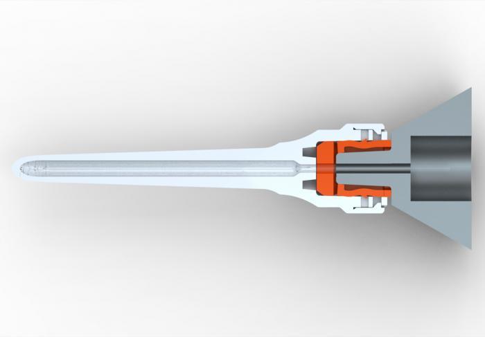 Abbildung: Augenchirurgie Ultraschallspitze Durchmesser 0,95mm 30°