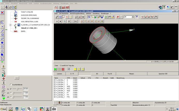 Abbildung: 3D Messprogramm WIN Werth