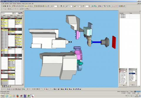 Abbildung: Esprit CAD-CAM Programmierung Citizen M32-VIII